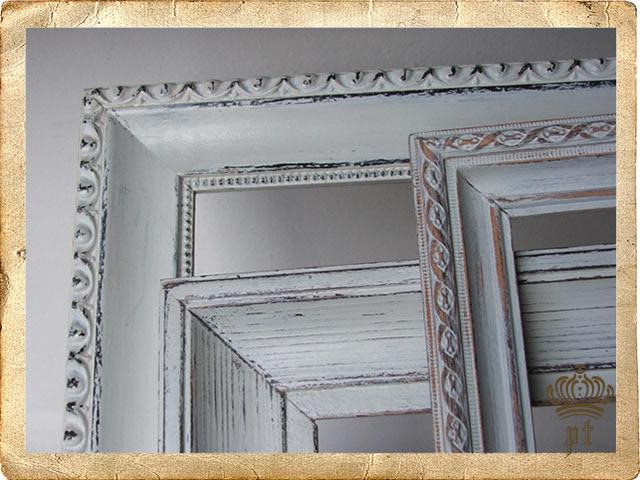 Cornici bianche shabby xr79 pineglen for Cornici foto bianche